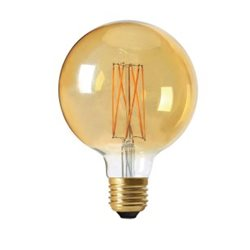 Pr Home Globlampa Led Elect Filament 125Mm 2,5W Gold 2100K