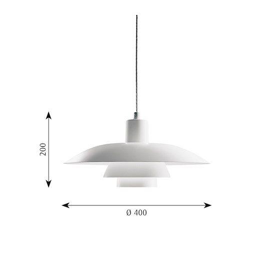 Stockholms Ljusbutik - Louis Poulsen Ph4 3 Pendel Vit - Belysning ... 2ae8828b567fc