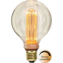 Star Trading Glob Led Filament 95Mm Dim Klar 2,5 E27 New Generation