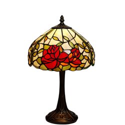 Nostalgia Design Rosor B17-25 Bordslampa Tiffany 25Cm