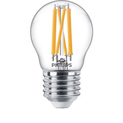 Philips Lighting Klot Led Filament Klar 4,5W 2700K-2100K E27 Dim-To-Warm